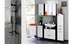 Unterschrank Bologna Schrank Badmöbel Badezimmer grau weiß Hochglanz Softclose