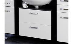 Unterbeckenschrank Bologna Schrank 60 Badmöbel Badezimmer grau weiß Hochglanz