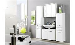 Unterbeckenschrank Bologna Schrank 70 Badmöbel Badezimmer weiß Hochglanz