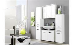 Spiegelschrank Bologna 70 cm Schrank Badmöbel Badezimmer weiß mit Einbauleuchte