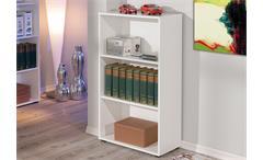 Regal ARCO 2 Bücherregal Büro Aktenregal weiß Höhe 110 cm