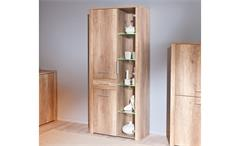 Vitrine I ABSOLUTO Buffet Schrank Wildeiche Dekor inkl. LED