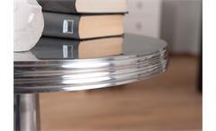 Beistelltisch Nime Lampentisch Tisch Dekotisch Aluminium glanz silberfarben