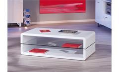 Couchtisch XONO Beistelltisch Tisch in MDF Brillant weiß Hochglanz 120 cm
