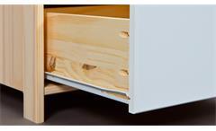 Kleiderschrank Gudjam Schrank 2-türig MDF weiß lackiert Massivholz natur 200 cm