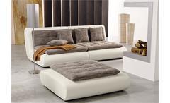 Wohnlandschaft CLUB III Megasofa Sofa in weiß mit Webstoff