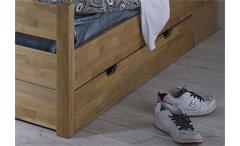 Bettkasten FYNN in Erle dunkel teilmassiv passend für Ihr Kojenbett