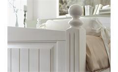 Bett Cinderella Premium Kinder- und Jugendzimmer Kiefer teilmassiv weiß lackiert 120 cm breit