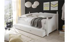 Kojenbett Cinderella Premium Kinder- und Jugendzimmer Kiefer teilmassiv weiß lackiert 90 cm breit