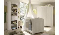 Standregal Cinderella Premium Kinder- und Jugendzimmer Kiefer teilmassiv weiß lackiert mit Schubkäst