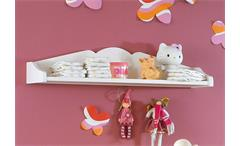 Hängeregal Cinderella Premium Kinder- und Jugendzimmer Kiefer massiv weiß lackiert
