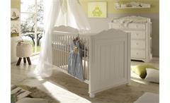 Kinderbett Cinderella Premium umbaubar Kinder- und Jugendzimmer Kiefer teilmassiv weiß lackiert 70x1