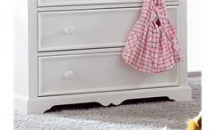 Wickelkommode Cinderella Premium Kinder- und Jugendzimmer Kiefer teilmassiv weiß lackiert mit Schubk