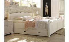 Bett Cinderella Premium Schlafzimmer Kiefer teilmassiv weiß lackiert 180 cm breit