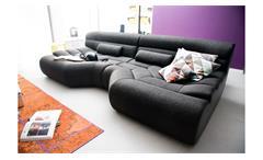 Sofa ELEMENTS Megasofa Couch Bezug in schwarz mit Nosagfederung 292 cm