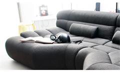 Sofa Elements Megasofa Lounge Couch Bezug in schwarz inkl. Nosagfederung 292 cm