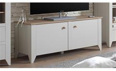 Lowboard Landy TV-Board Unterteil Nebelgrau Eiche Camargue B 139 cm