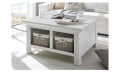 Couchtisch Westerland Tisch Wohnzimmer inkl. Körbe Landhausstil Pinie weiß