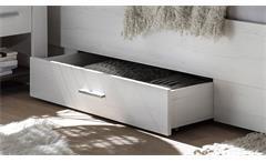 Bettkasten TIENA für Bett in Pinie weiß Breite 112 cm