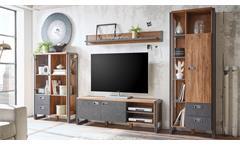 couchtisch detroit beistelltisch stirling oak und matera anthrazit. Black Bedroom Furniture Sets. Home Design Ideas