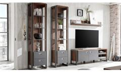 Regal DETROIT Schrank Stirling Oak und Matera anthrazit
