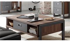 Couchtisch Detroit Beistelltisch in Stirling Oak und anthrazit Wohnzimmer Tisch