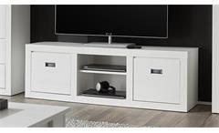 Lowboard BIARRITZ TV-Board in Pinie weiß