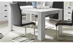 Esstisch Biarritz Esszimmer Tisch Küchentisch in Pinie weiß 160x90cm