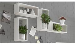 Wandregal Frames Wandkasten Regal rechteckig in Pinie weiß