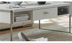 Couchtisch Frames Wohnzimmertisch Beistelltisch Pinie weiß und Metall