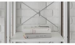 Regal Frames 1 Hochregal Bücherregal Stauraumelement Pinie weiß und Metall