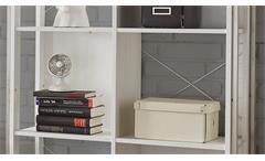 Regal Frames 2 Bücherregal Standregal Stauraumelement Pinie weiß und Metall