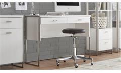 Konsole FRAMES Schreibtisch in Pinie weiß und Metall