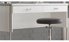 Konsole Frames Schreibtisch PC Tisch Schminktisch Anrichte Pinie weiß und Metall
