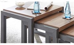 Beistelltische Detroit 3-Satz Couchtisch Tisch in Stirling Oak und anthrazit