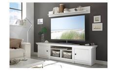 Lowboard Westerland TV-Board Unterteil in Pinie weiß mit 3 Fächern Länge 194 cm