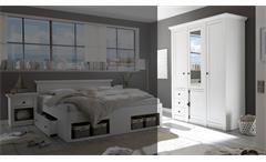 Kleiderschrank Westerland Schrank Schlafzimmerschrank in Pinie weiß 147 cm