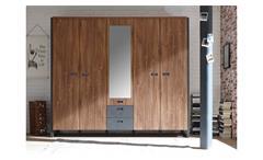 Kleiderschrank Detroit Schrank Schlafzimmer in Stirling Oak Matera anthrazit 232