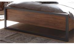 Bett Detroit Bettgestell Schlaftzimmer Stirling Oak und Matera anthrazit 180x200