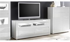 TV-Board CARAT Lowboard Unterschrank Fernsehschrank weiß Hochglanz Beton grau