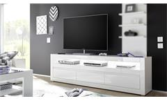 TV-Board Carat Lowboard Fernsehschrank Unterschrank weiß Hochglanz Beton grau