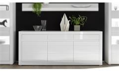 Sideboard Carat Anrichte Kommode Schrank in weiß Hochglanz und Beton grau