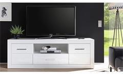 TV-Board Bianco Lowboard Fernsehschrank Unterschrank Kommode in weiß Hochglanz