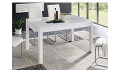 Esstisch 06 Nizza Esszimmertisch Tisch MDF weiß Hochglanz mit Auszug 140-180 cm