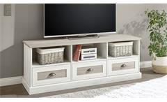 TV-Board Lowboard TV-Bank Colorado Wohnzimmer Landhaus Pinie antik weiß 160 cm