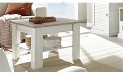 Couchtisch Beistelltisch Wohnzimmertisch Colorado Tisch Pinie antik weiß 70x70