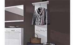 Garderobenpaneel LIFE MDF weiß Hochglanz geriffelt