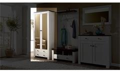 Garderobenschrank 2 Antwerpen Garderobe in Lärche und Pinie dunkel mit Spiegel