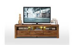TV-Board Gent Lowboard Unterschrank Fernsehschrank in Akazie dunkel inkl. LED
