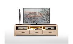 TV-Board Lüttich Lowboard Unterschrank Fernsehschrank Eiche hell inkl. LED 201